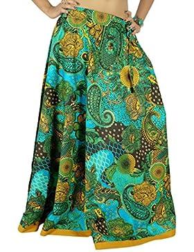 Impreso desgaste de la moda de las mujeres Maxi Hippie multicolor de la falda larga de encaje Beach