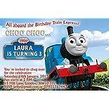 ABV Designs - Invitaciones para fiesta de cumpleaños o tarjetas de agradecimiento diseño de Thomas y sus amigos (10unidades)