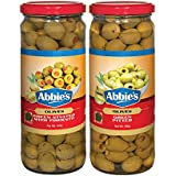 Abbie's Green Stuffed Olives + Green Pitted Olives 450g, Pack of 1 Each, Product of Spain