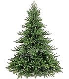 Original Hallerts® Spritzguss Weihnachtsbaum Lancaster 180 cm stufig ausladende Edeltanne - zu 100% in Spritzguss PlasTip® Qualität - schwer entflammbar nach B1 Norm, Material TÜV und SGS geprüft