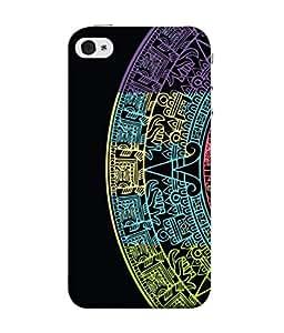 PrintVisa Designer Back Case Cover for Apple iPhone SE (Cut Part D Artistic Colourful Half Circle)