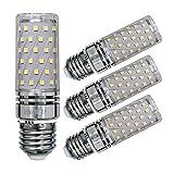 Sagel E27 LED Mais Birne, 15W LED Kerzenleuchter Glühbirnen 120 Watt Äquivalent, 1500lm, Cool Weiß 6000K LED Kronleuchter Lampen, Sockel E27, Nicht Dimmbare LED Lampe, 4er Pack