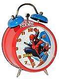 Die besten Spiderman Wecker - Kinderwecker Spiderman incl. Name - Kinder Wecker Metallwecker Bewertungen