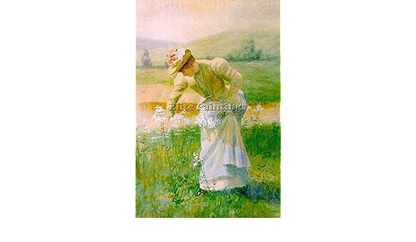 Evans De Scott American 1847 1898 2 artista quadro riproduzione dipinto a olio