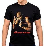 2 PAC T-Shirt - Manches Courtes - Homme Noir Noir - Noir - Large