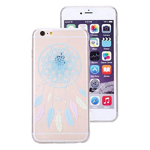 Apple iPhone 6s plus Soft Silicone Tpu Coque Mode,Transparent Coque pour iPhone 6 plus,Ekakashop Ultra Mince Jolie Ciel Forêt Design Souple imprimée Etui Housse de protection Cristal Clair Gel Case Pr Bleu Campanula