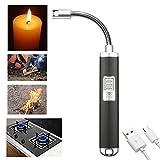 Waycreat WY-01 USB Ricaricabile Antivento Accendino, Candela Elettrica Arc Accendino per Barbecue, Casa, Cucina, Campeggio, Stufa