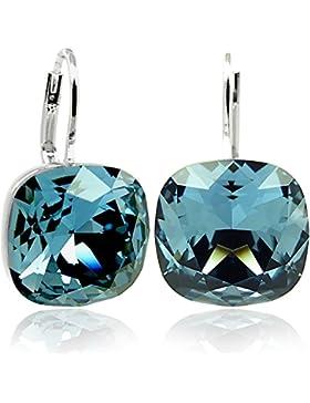 Ohrringe mit Kristallen von Swarovski® - Blau - Damen Ohrringe von NOBEL SCHMUCK