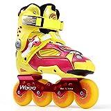 Professionelle Schlittschuhe Erwachsene Bremse Schuhe Erwachsene Flache Schlittschuhe Roller Skates Männer und Frauen Weiche Oberfläche,Orange-42
