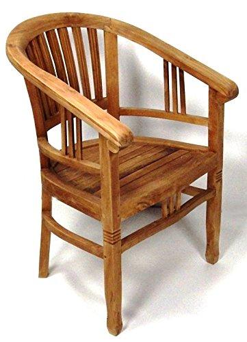 BEHO Natürlich gut in Holz ! 2 Gartensessel Betawi 60x60x84 cm Teakholz selected Kernholz unbehandelt zusammengebaut
