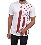 Best American Flags - Roden Men's Printed Half Sleeve Tshirt/Round Neck Tshirt/Mens Review