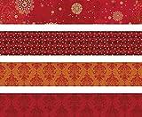 Heyda 204875523 Faltstreifen-Set für Fröbelsterne 1 x 30 cm & 1, 5 x 45 cm, 4 Motive Sortiert in zwei verschiedenen Größen