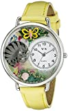 Whimsical Watches Unisex U0120013 Cat Nap Yellow Leather Watch best price on Amazon @ Rs. 987