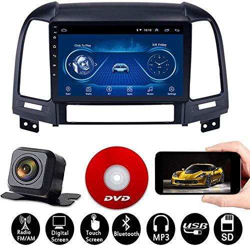 Android Car Navigation Stereo Mit 9 Zoll Touchscreen Für Hyundai Santa Fe 2005-2012 Multimedia-Autoradio, WiFi/BT-Tethering-Internet, Unterstützung Für 64G SD Und Mehr/2DIN