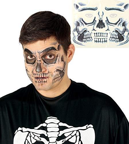 Fiestas Guirca Gesicht Tattoos für Totenkopf Dekoration gesetzt