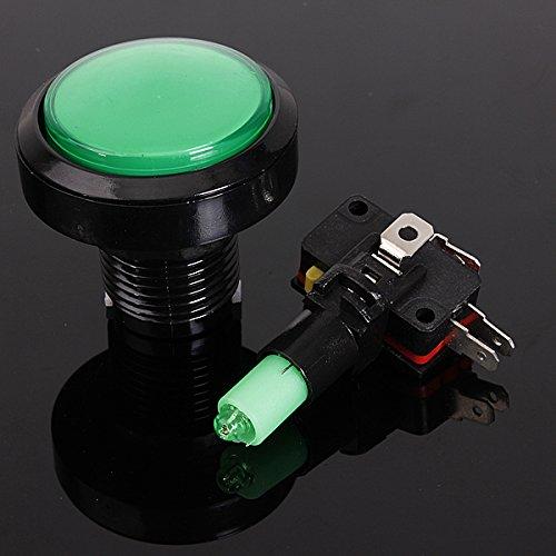 Preisvergleich Produktbild AUDEW 45mm schalter Push Switch Arcade Button Mikroschalter Aktionstaster LED 5V/12V Grün