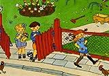 Postkarte - Pippi Langstrumpf - Tommy und Annika