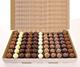 Lessiters Hand Finished Swiss Assorted Chocolate Truffles - Pack Size = 1x77