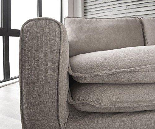 Big Sofa Noelia Elfenbeinfarben 240x145 cm mit Kissen Hussensofa - 5
