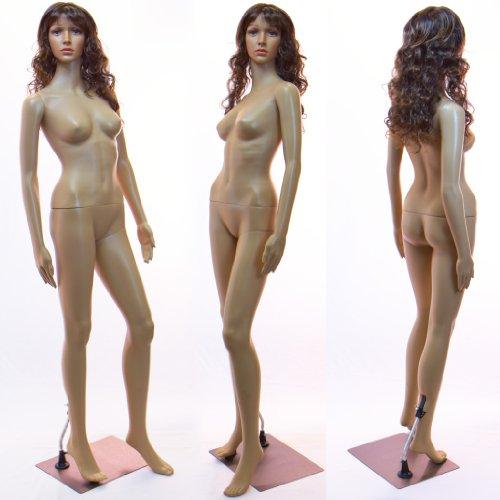 Tonhan SF-2 Schaufensterpuppe Weiblich mit 2 Perücken Gratis. Beweglich. Frau in Hautfarbe
