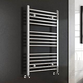 iBathUK | 1000 x 600 Premium Straight Heated Towel Rail Chrome Bathroom Radiator