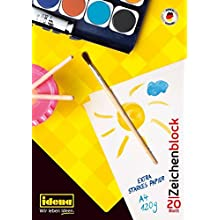 Idena Drawing Pad - DIN A4, 20 Sheets, 120 g/m² - Pack of 1-10387