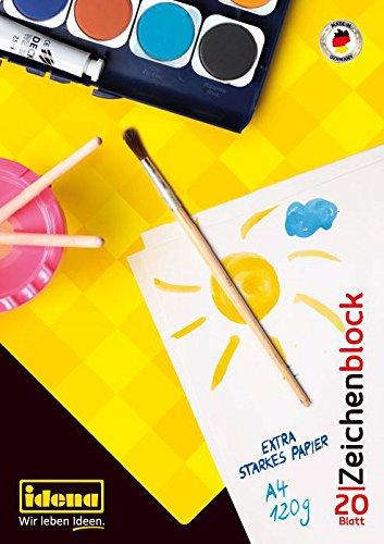 Idena 10387 Zeichenblock FSC-Mix, A4, 20 Blatt, 120 g/m²