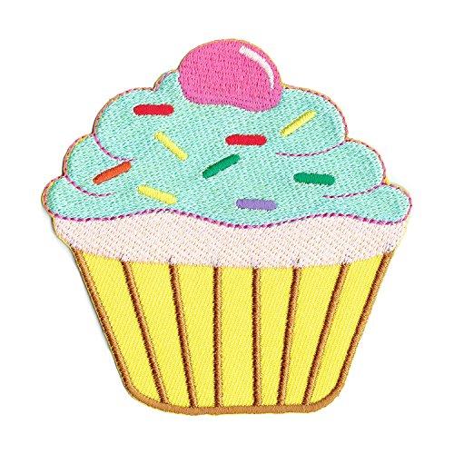Aufnäher Bügelbild Aufbügler Iron on Patches Applikation Törtchen Kuchen Muffin Cup Cake
