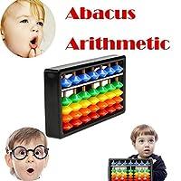 Festiday 1PC 7 Rods Colorful Beads Plastic Abacus Arithmetic Soroban Kid