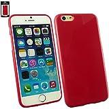 """Emartbuy® Apple Iphone 6 6G 6S 4.7 """" Zoll Glänzend Gel Hülle Schutzhülle Case Cover Rot"""