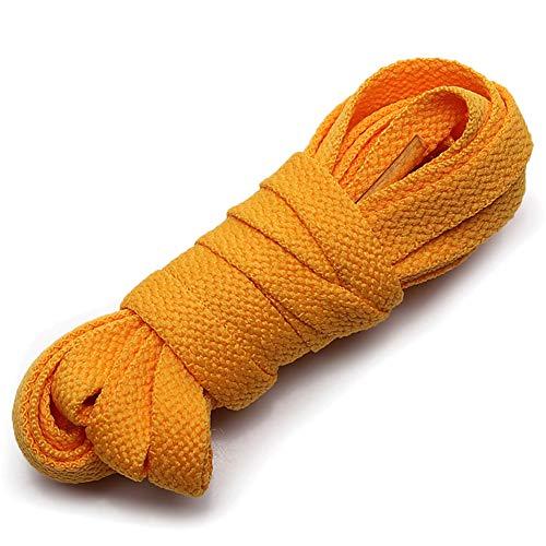 ANUFER Piatto 9mm Largo Colorato Lungo Lacci delle Scarpe per Scarpe Sportive Stivali P11 Blu Marino 70cm