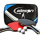 Senston ITTF Tisch Tennisschläger Schläger-Set, Pingpong Paddel mit 2Schlägern (, die Hände schütteln Griff), 2-Bats and 2-Ball