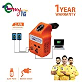 myTVS TLC-28 Car Laptop and Mobile Charger Power Inverter AC to DC Converter-Orange