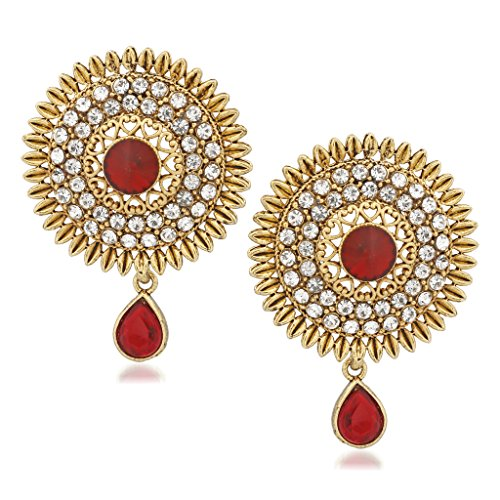V. K. Jewels New Design Gold Brass Alloy Cz American Diamond Earring For Women Vkerz1333G