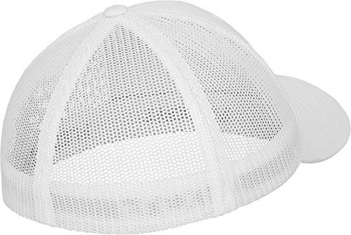 Flexfit Erwachsene Mütze Mesh Trucker weiß (White)