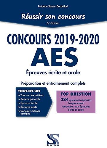 Réussir son concours AES 2019-2020 - Tout-en-un par Frédéric-Xavier Corbellari
