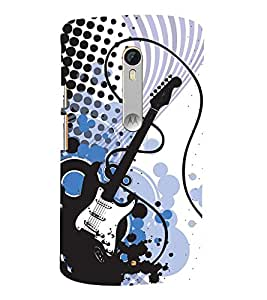 Electric Switch Guitar 3D Hard Polycarbonate Designer Back Case Cover for Motoroal Moto X Play