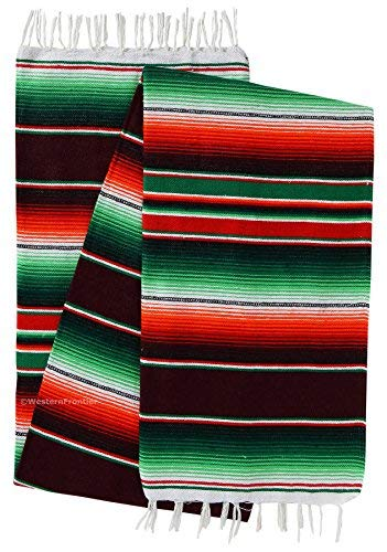 El Paso Designs mexikanische Serape-Decke, helle und Bunte Saltillo-Decke, Medium