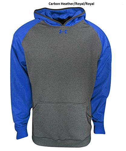 Under Armour uomo tempesta Armour Fleece Team hoodie Carbon Heather/ Royal/ Royal