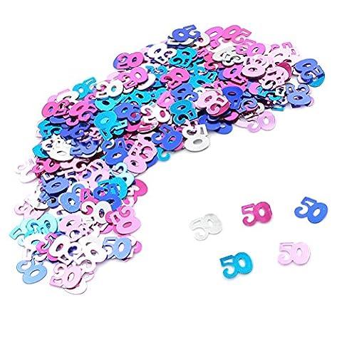 37yimu Mix Farbe Nr. Konfetti metallic Folie Konfetti Geburtstag Party Supplies, für Tischdekorationen, 50Gramm 50