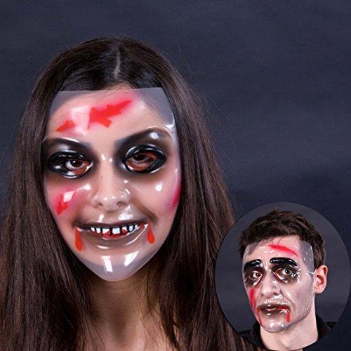Amakando Zombiemaske Frau Monstermaske Zombie Maske Transparente Monster Maske Faschingsmaske Karnevalsmaske Halloweenmaske