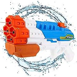 Balnore Pistolet à Eau Puissant Haute Capacité 1200CC 30ft pour Enfants et Adultes Jouets d'été Plein Air (Large)