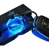 8baebca14a VILLSION Colori Che cambiano LED Jaguar Logo Portachiavi per Auto con  Portachiavi a LED per Accessori
