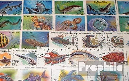 Prophila Collection Motivazioni 50 diversi Pesce Francobolli (Francobolli per i collezionisti) acqua animali