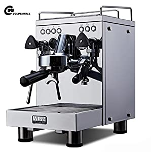 CGOLDENWALL KD-310 Commercial Double Pump Coffee Machine Italian Style Steam Espresso Coffee Maker Pump Espresso Coffee Making Machine 15 Bar Hot Drinks, Cappuccino & Coffee Maker 2600W …