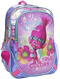 Sac à dos Les Trolls True Colors 40 cm CE2/Collège Rose