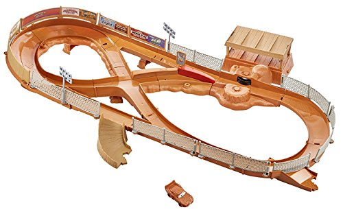 Mattel Disney Cars FCW01 Disney Cars FCW01-Disney 3 Thunder Hollow Crash-Arena Oval Thunder
