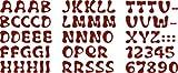 Produkt-Bild: Bambinella Buchstaben zum selbst Aufbügeln aus Velour/Flock - ABC und Ziffern (wie abgebildet) - Höhe: ca. 2,4 cm - Made in Germany