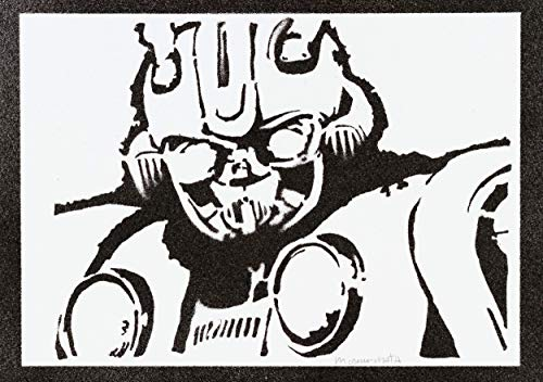 Poster Transformers Bumblebee Handmade Graffiti Street Art - Artwork