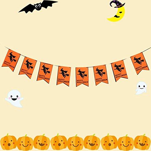 Hunpta 1 gesetztes Halloween hängende Feiertags Party Dekoration Verzierungen DIY ziehen die Flagge (D'halloween Kostüm Diy)